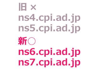 CPIサーバーネームサーバー